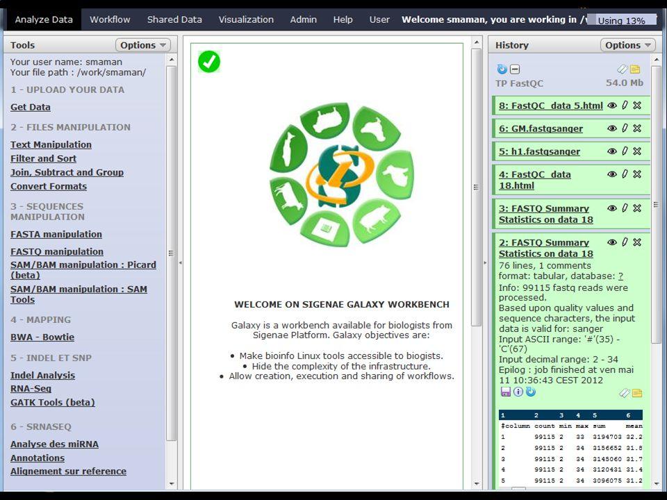 -- 2 -- GALAXY pour vos traitements bioinformatiques http://sigenae-workbench.toulouse.inra.fr « sig-learning » pour votre auto-formation continue en ligne http://sig-learning.toulouse.inra.fr 29/01/2013