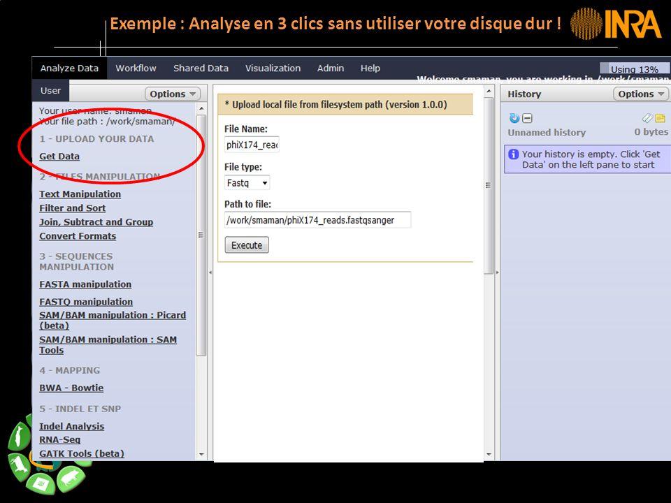 -- 14 -- Exemple : Analyse en 3 clics sans utiliser votre disque dur !