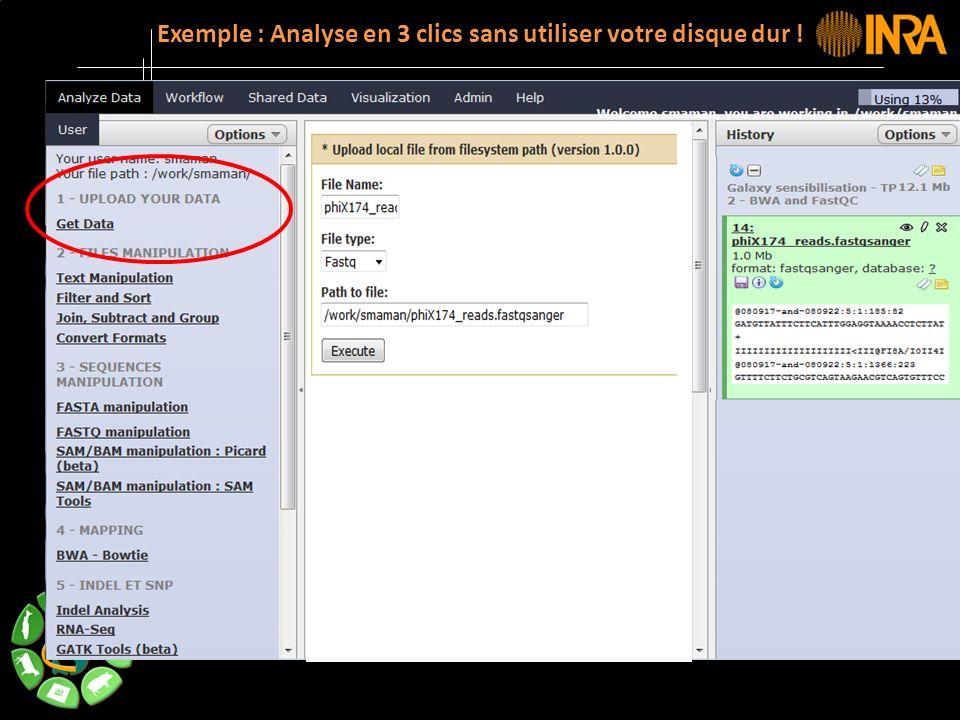 -- 15 -- Exemple : Analyse en 3 clics sans utiliser votre disque dur !