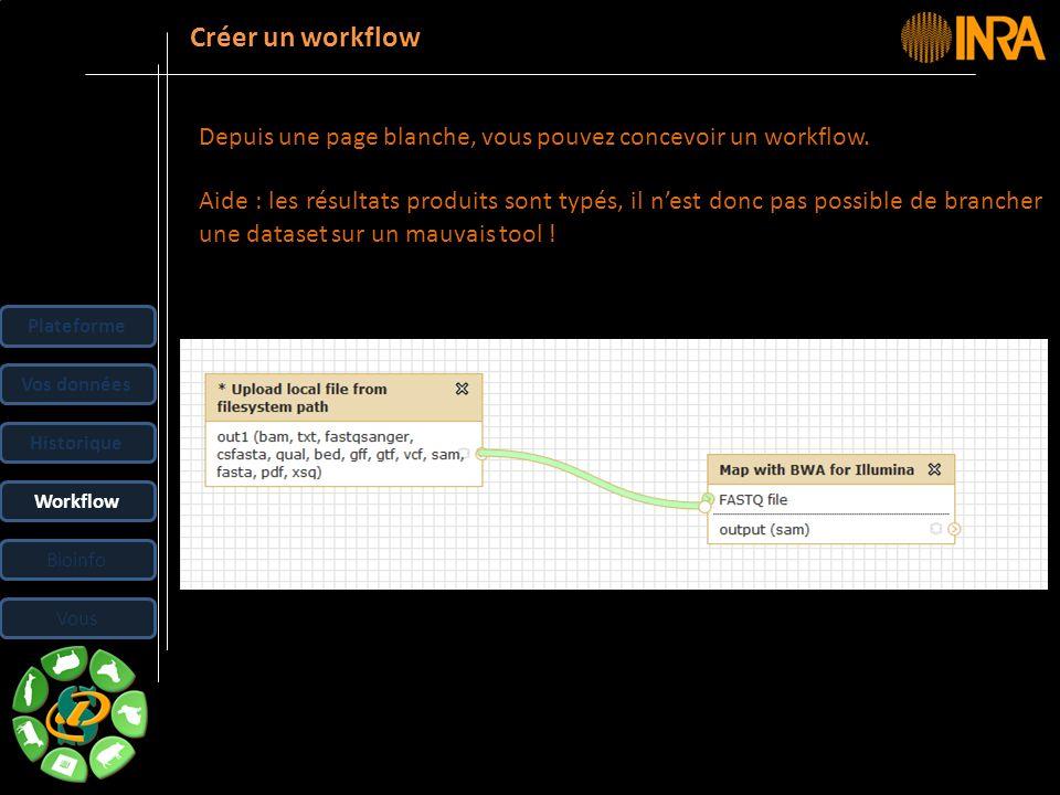 -- 31 -- Depuis une page blanche, vous pouvez concevoir un workflow. Aide : les résultats produits sont typés, il nest donc pas possible de brancher u