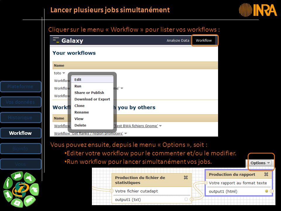 -- 33 -- Cliquer sur le menu « Workflow » pour lister vos workflows : Vous pouvez ensuite, depuis le menu « Options », soit : Editer votre workflow po