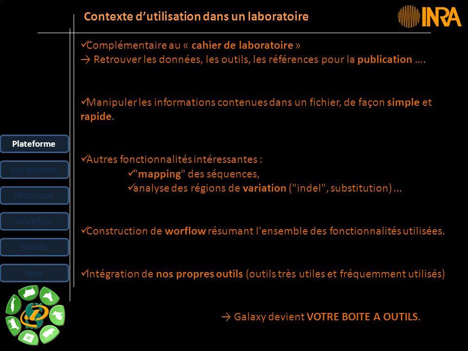 -- 8 -- Complémentaire au « cahier de laboratoire » Retrouver les données, les outils, les références pour la publication …. Manipuler les information