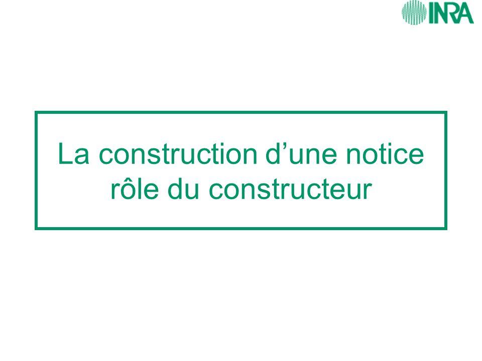 La construction dune notice rôle du constructeur