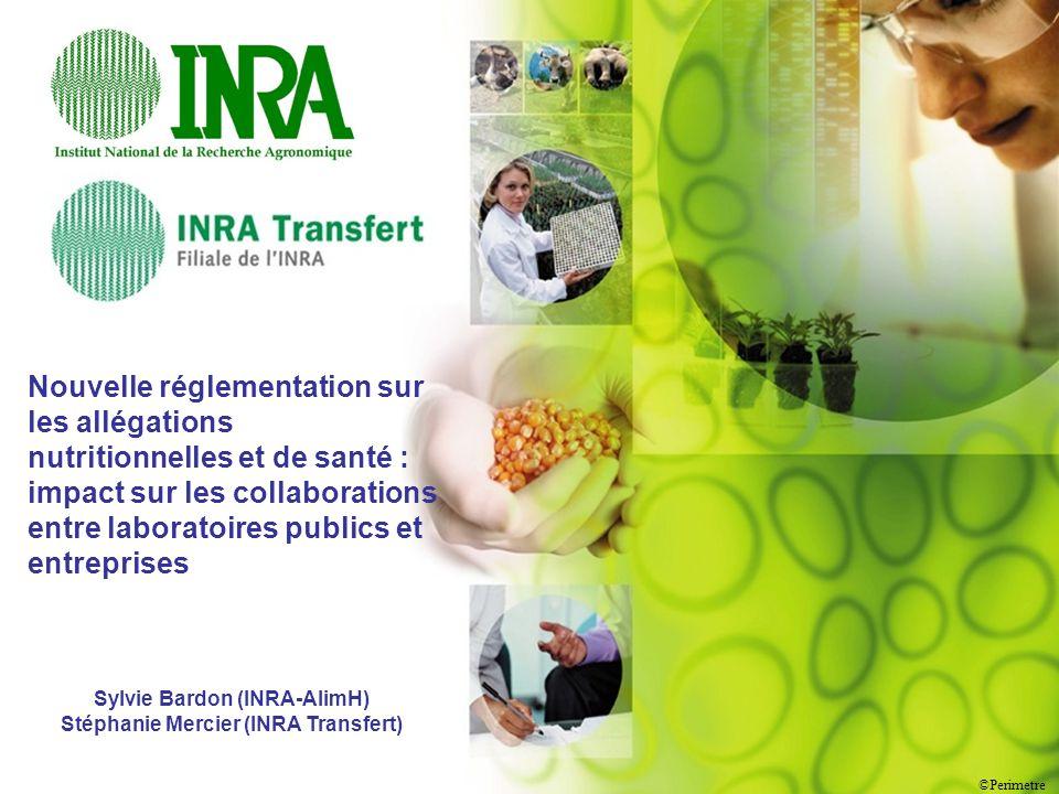 ©Perimetre 1 Nouvelle réglementation sur les allégations nutritionnelles et de santé : impact sur les collaborations entre laboratoires publics et ent
