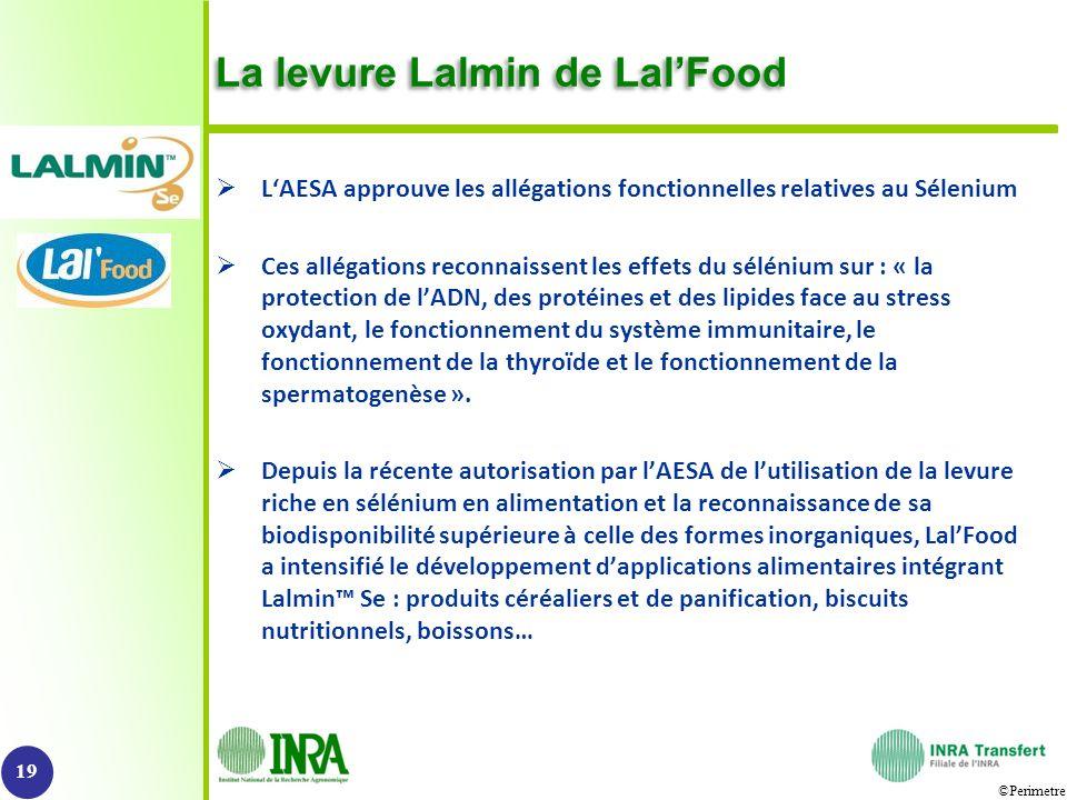 ©Perimetre La levure Lalmin de LalFood LAESA approuve les allégations fonctionnelles relatives au Sélenium Ces allégations reconnaissent les effets du