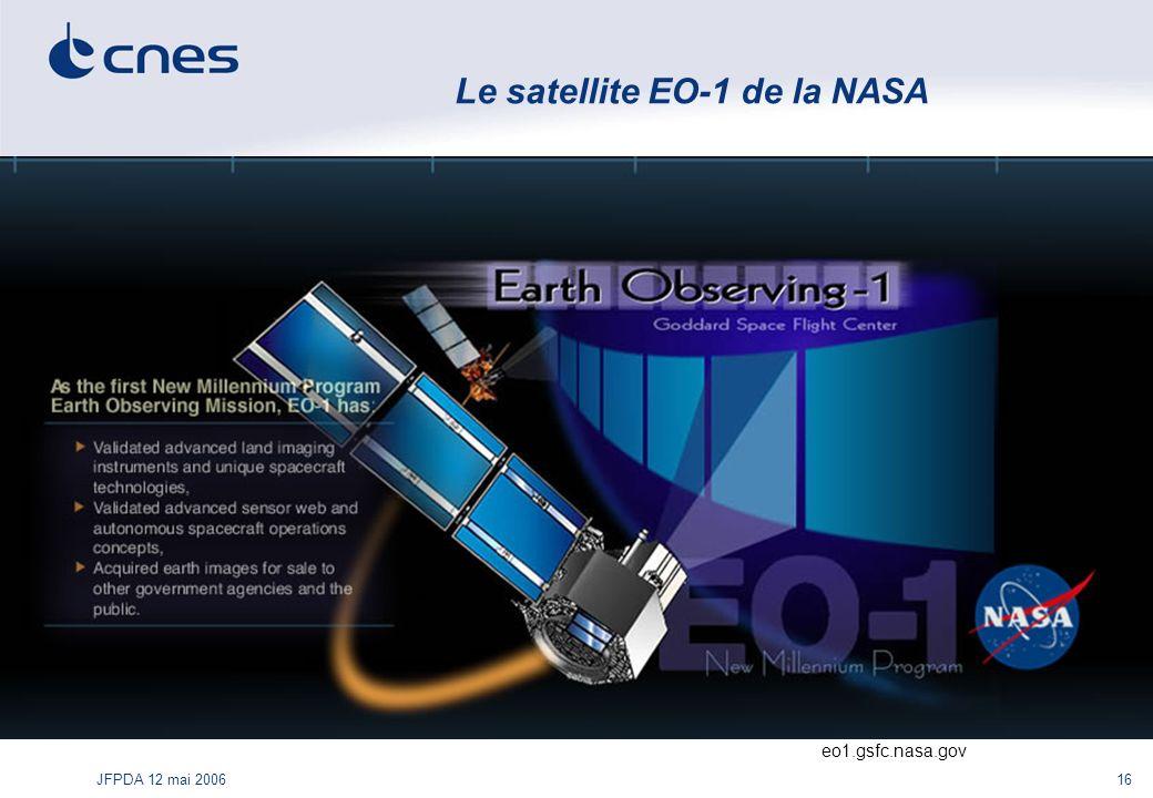 JFPDA 12 mai 200616 Le satellite EO-1 de la NASA eo1.gsfc.nasa.gov