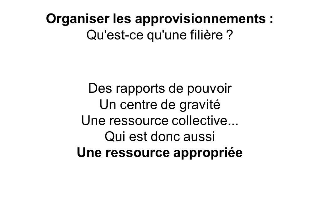 Organiser les approvisionnements : Qu est-ce qu une filière .