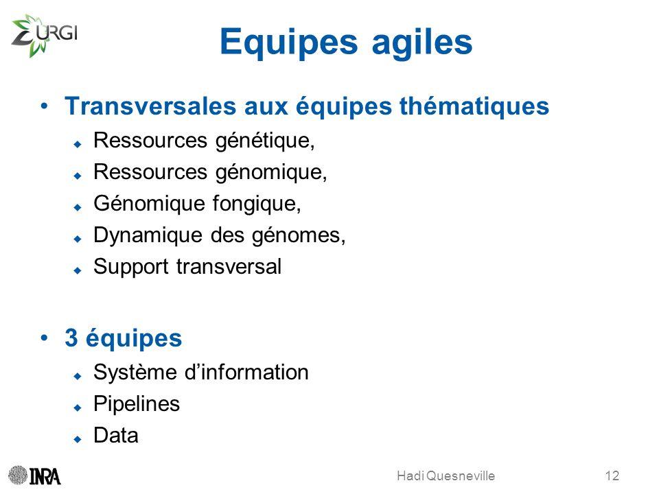 Hadi Quesneville Equipes agiles Transversales aux équipes thématiques Ressources génétique, Ressources génomique, Génomique fongique, Dynamique des gé