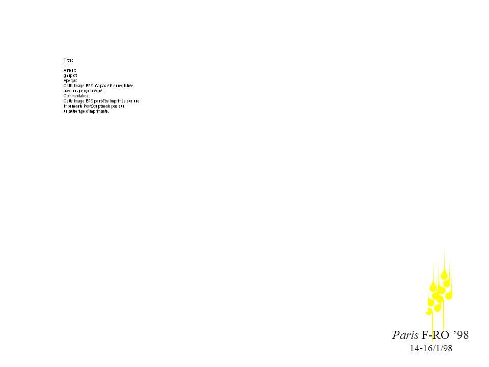 Paris F-RO 98 14-16/1/98 Des résultats partiels