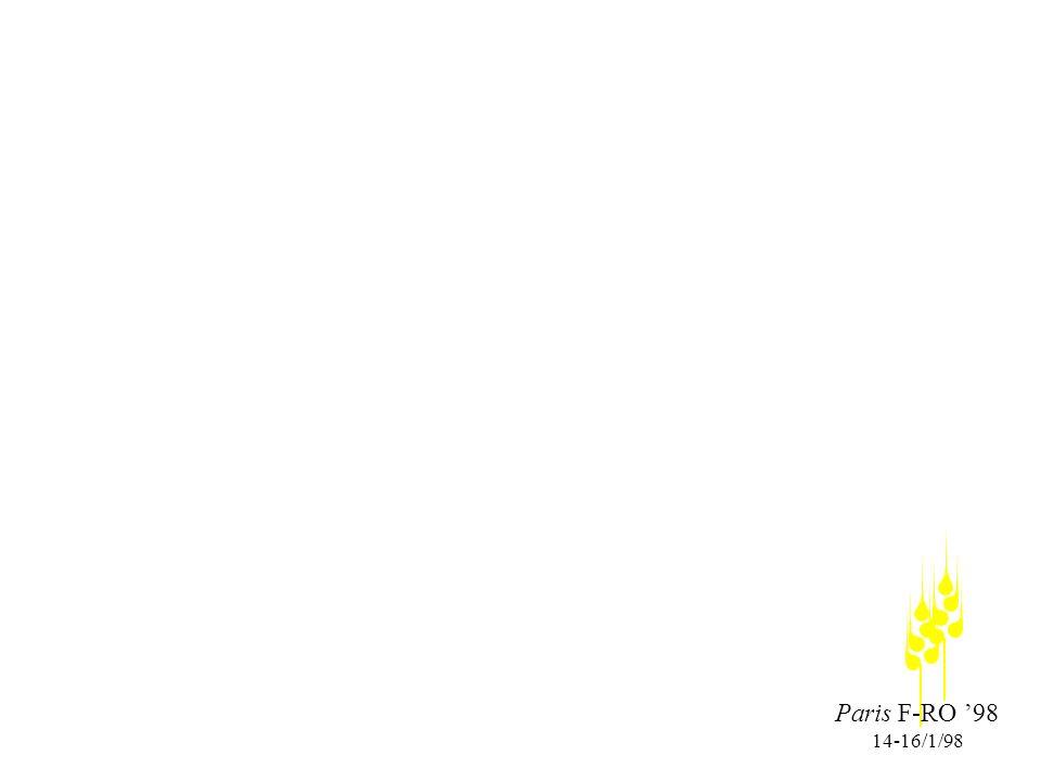 Paris F-RO 98 14-16/1/98