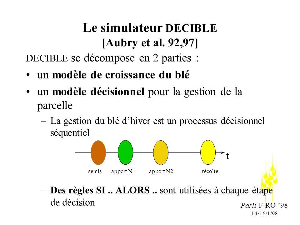 Paris F-RO 98 14-16/1/98 Le simulateur DECIBLE [Aubry et al.