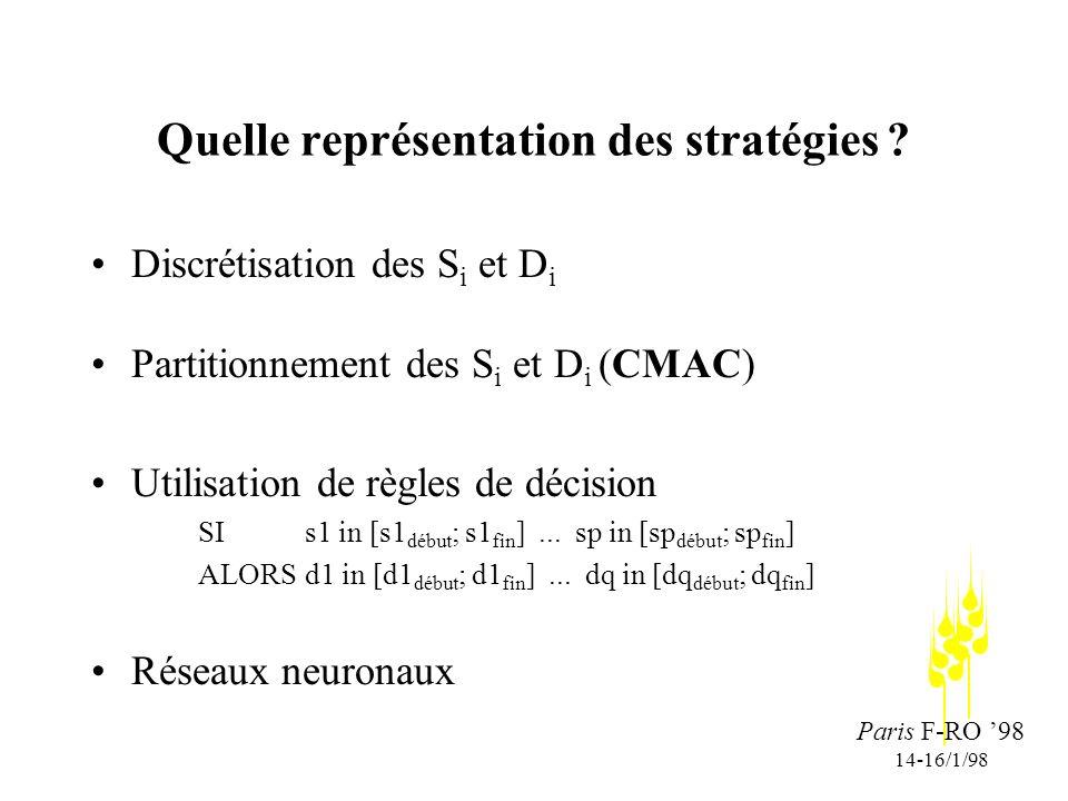 Paris F-RO 98 14-16/1/98 Quelle représentation des stratégies .