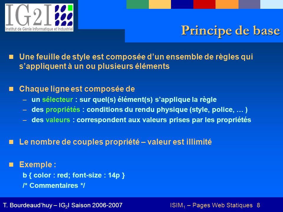 ISIM 1 – Pages Web Statiques 39T.