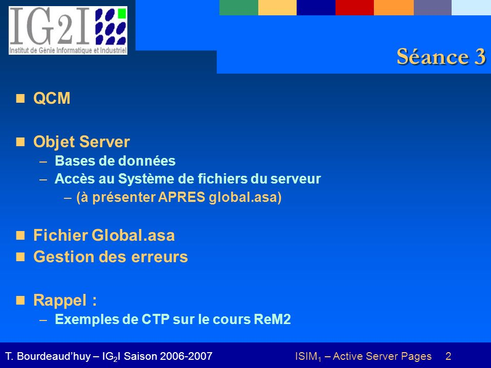 ISIM 1 – Active Server Pages 33T.