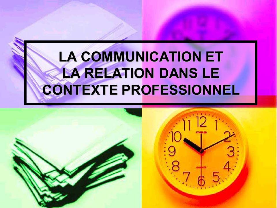 LA RELATION DAIDE DEFINITION : La relation est le lien existant entre des choses ou des personnes.