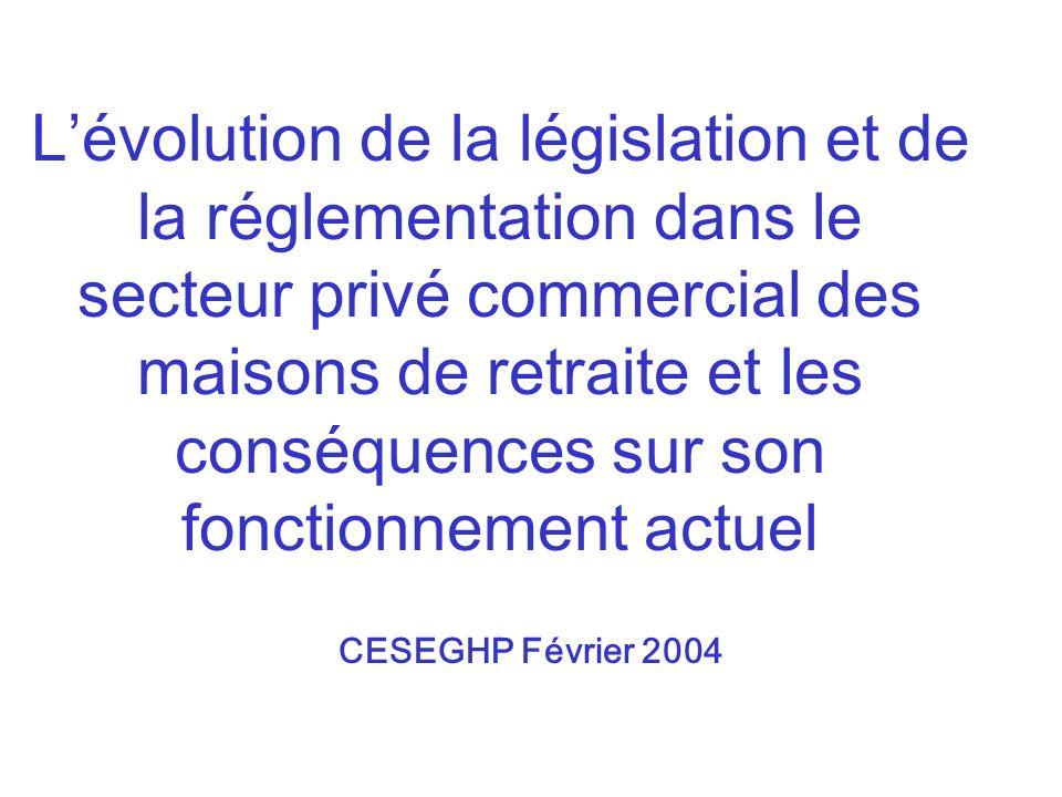 Lévolution de la législation et de la réglementation dans le secteur privé commercial des maisons de retraite et les conséquences sur son fonctionneme