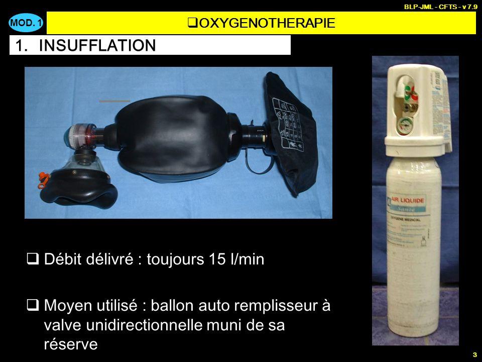 MOD. 1 BLP-JML - CFTS - v 7.9 3 Faire pénétrer de loxygène dans les poumons dune victime qui ne respire plus ou qui ne respire plus suffisamment FR <