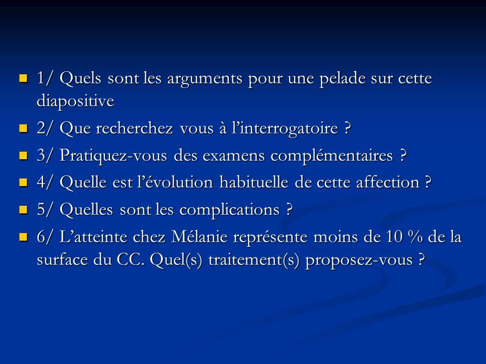 1/ Quels sont les arguments pour une pelade sur cette diapositive 1/ Quels sont les arguments pour une pelade sur cette diapositive 2/ Que recherchez