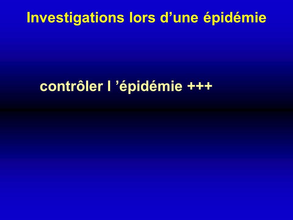 Investigations lors dune épidémie contrôler l épidémie +++