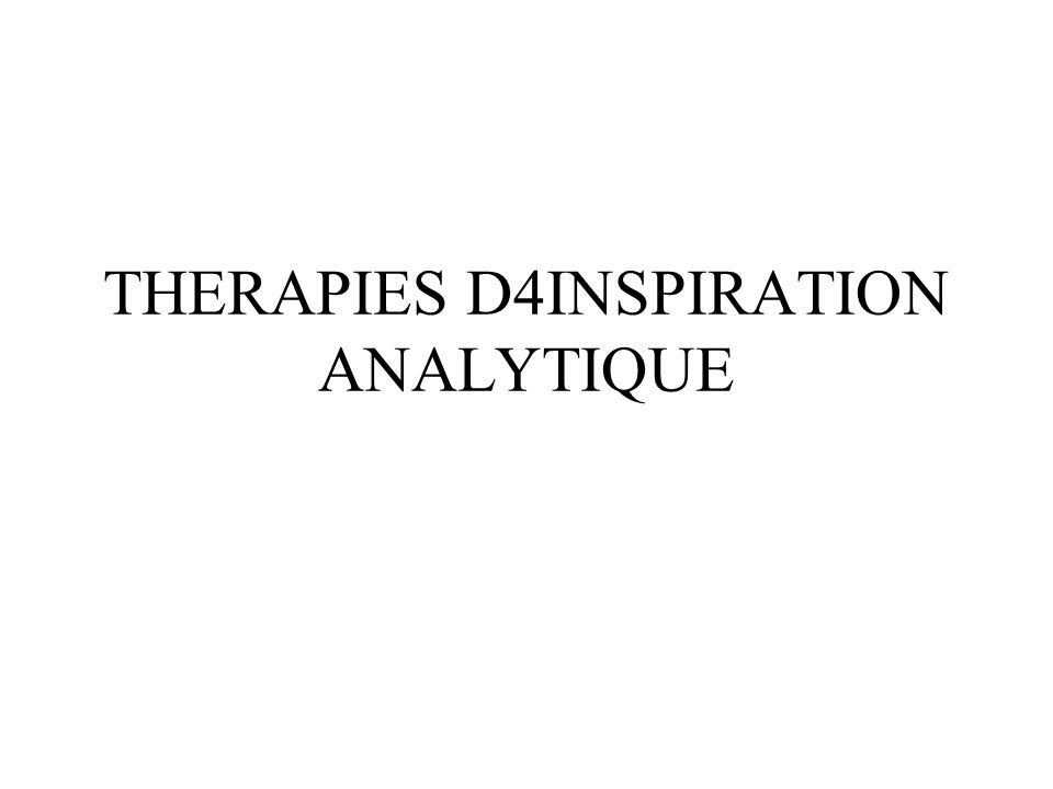 THERAPIES D4INSPIRATION ANALYTIQUE