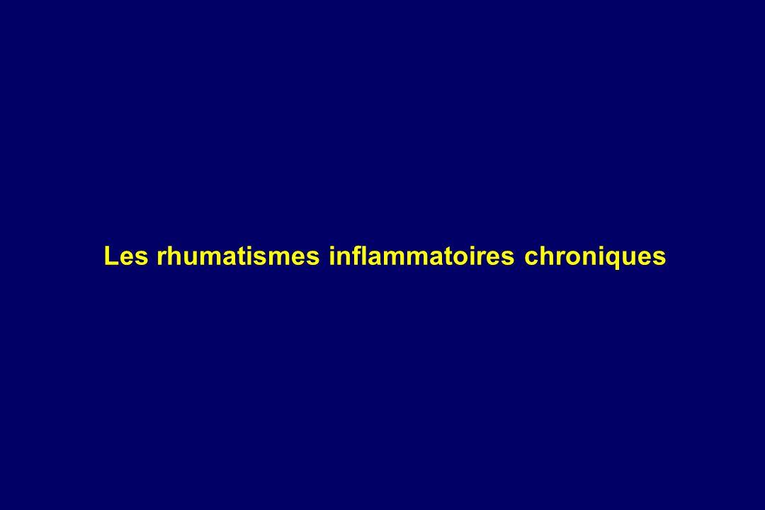 Les rhumatismes inflammatoires chroniques