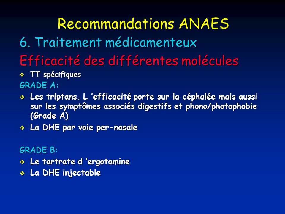 Recommandations ANAES 6.