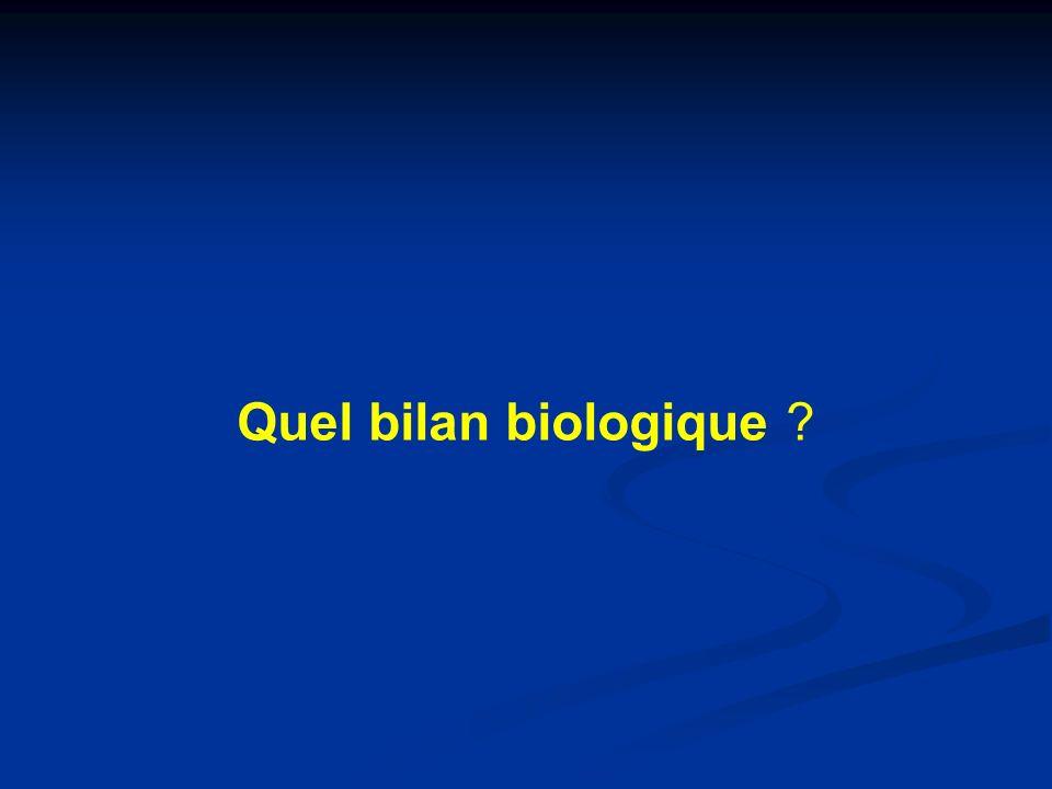 Quel bilan biologique ?