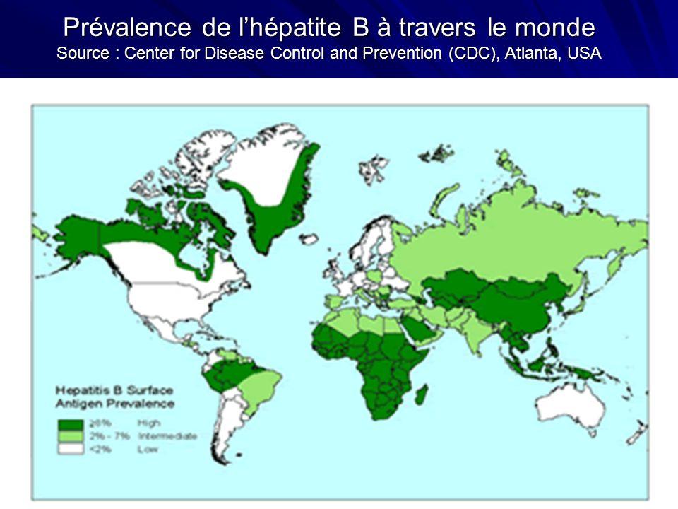 Prévalence de lhépatite C dans le monde Les dernières estimations de lOrganisation mondiale de la santé (OMS) estiment à 170 millions le nombre de personnes infectées par le VHC.