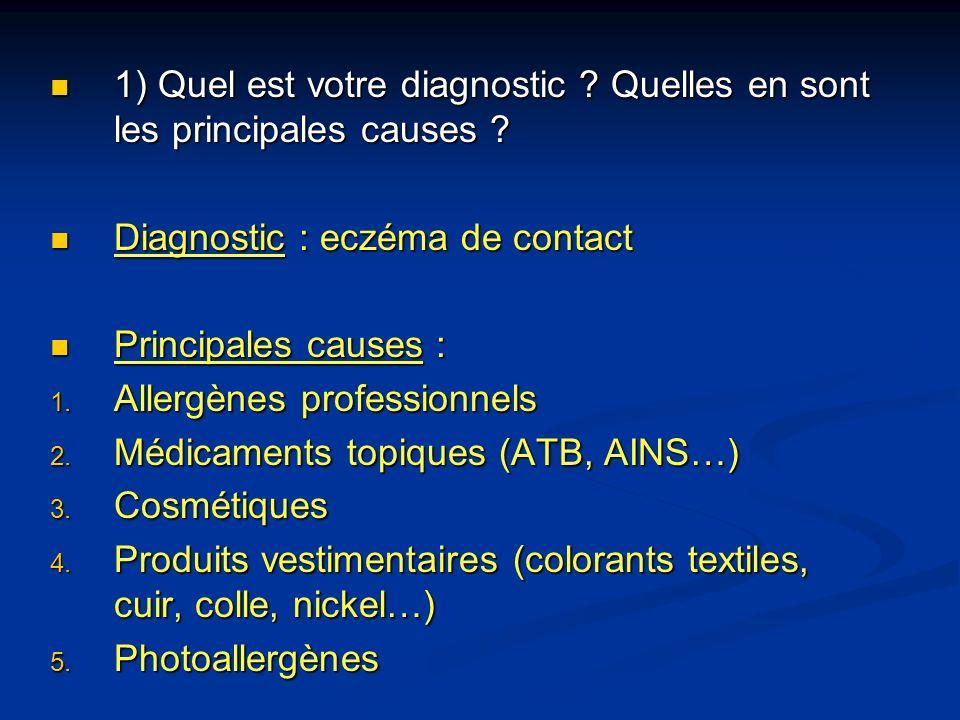 1) Quel est votre diagnostic ? Quelles en sont les principales causes ? 1) Quel est votre diagnostic ? Quelles en sont les principales causes ? Diagno
