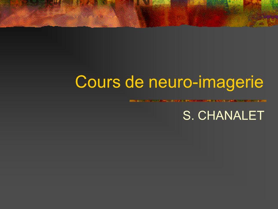 Cours de neuro-imagerie S. CHANALET