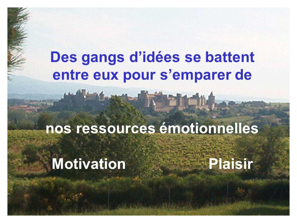 Des gangs didées se battent entre eux pour semparer de nos ressources émotionnelles Motivation Plaisir