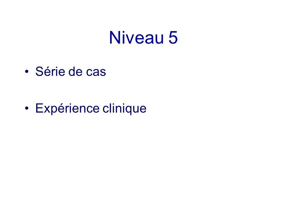 Niveau 5 Série de cas Expérience clinique
