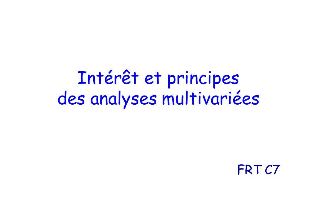 Intérêt et principes des analyses multivariées FRT C7