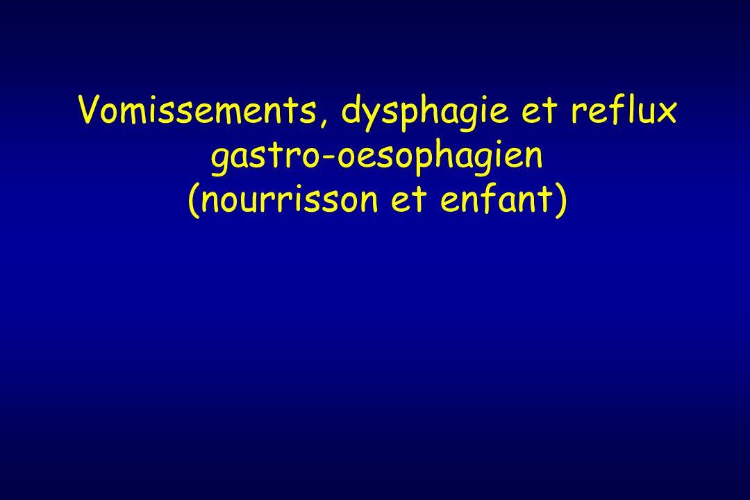 Etiologies Autres causes lésionnelles diverticule pharyngo-oesophagien (rare) corps étrangers (rx thorax : pneumo- médiastin) anneaux muqueux (adulte) Troubles moteurs : dysfonctionnement oesophagien