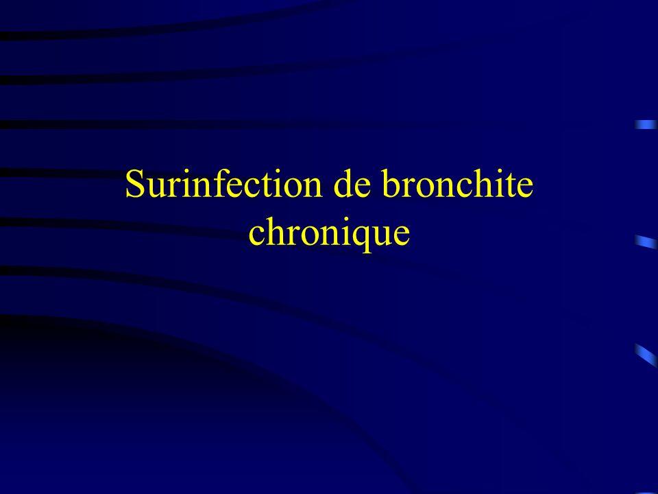 Surinfection de bronchite chronique