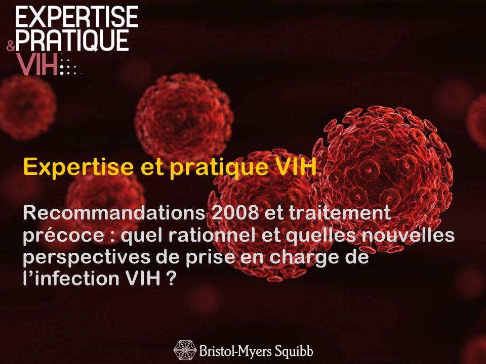 Complications associées au VIH et aux traitements ARV (2) LE GROUPE DEXPERTS RECOMMANDE Dévaluer limpact à court et moyen terme des nouvelles molécules sur les complications et co-morbidités liées aux traitements ARV dans le cadre dessais thérapeutiques De dépister une atteinte rénale précoce liée au VIH et/ou aux traitements ARV De rechercher un dysfonctionnement cognitif >chez des patients > 50 ans et/ou co-infectés par le VHC >en cas de plaintes mnésiques ou de difficultés dorganisation dans la vie quotidienne.