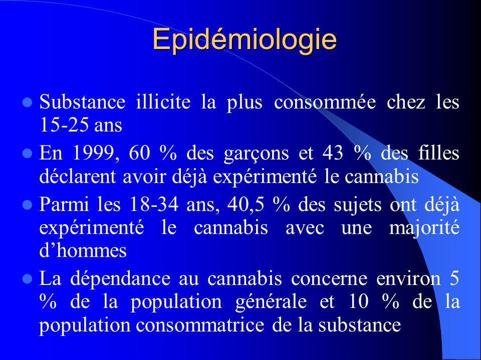 Enquête ESPAD 1993-2003: consommation de cannabis des jeunes 0% 5% 10% 15% 20% 25% 30% 35% 40% 45% 50% experimentatriceexpérimentateurconsommatrices régulières (10/mois) consommateurs réguliers (10/mois) 1993 2003 CAN06-EPI06