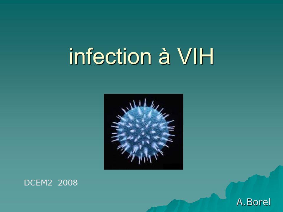 infection à VIH A.Borel DCEM2 2008