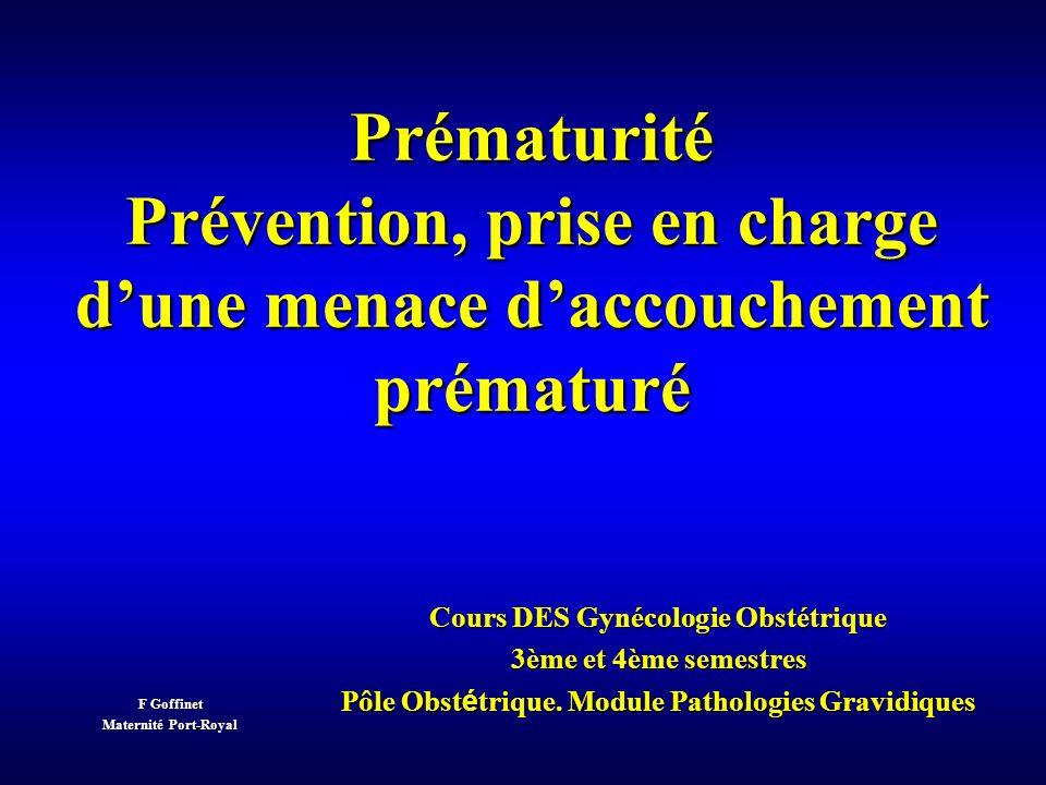 Métronidazole + erythro Métronidazole VAGINOSE PAS DE VAGINOSE 31 49 22 25 NSp<0.01 Vaginose bactérienne au 2e trimestre dans une population à risque élevé (atcd prématurité) Ce rôle est-il causal .