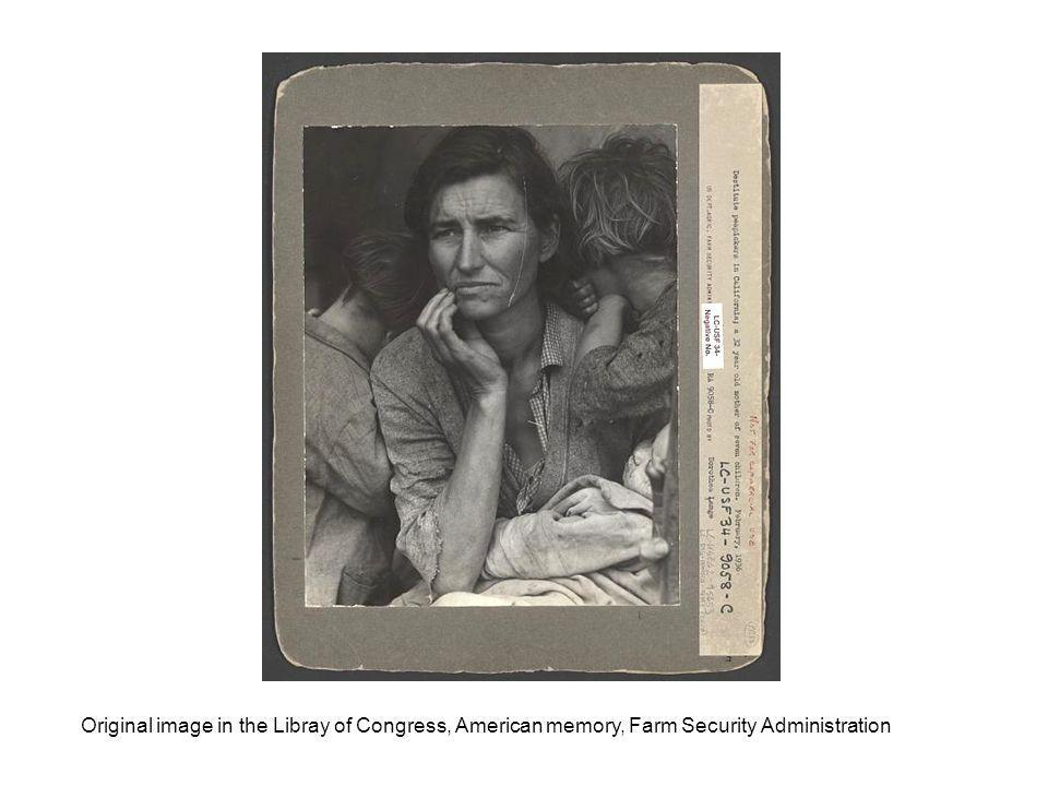 Original image in the Libray of Congress, American memory, Farm Security Administration