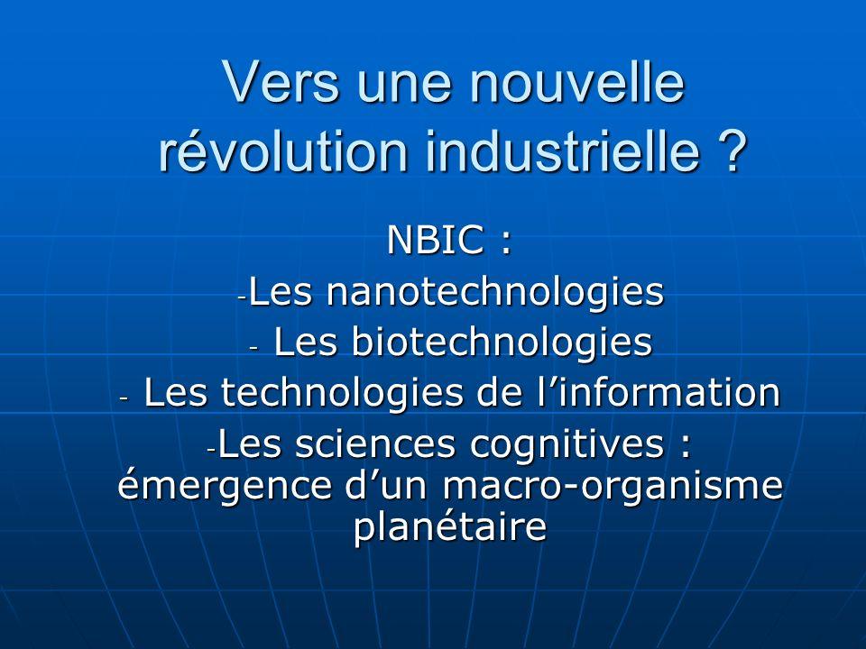 Vers une nouvelle révolution industrielle .