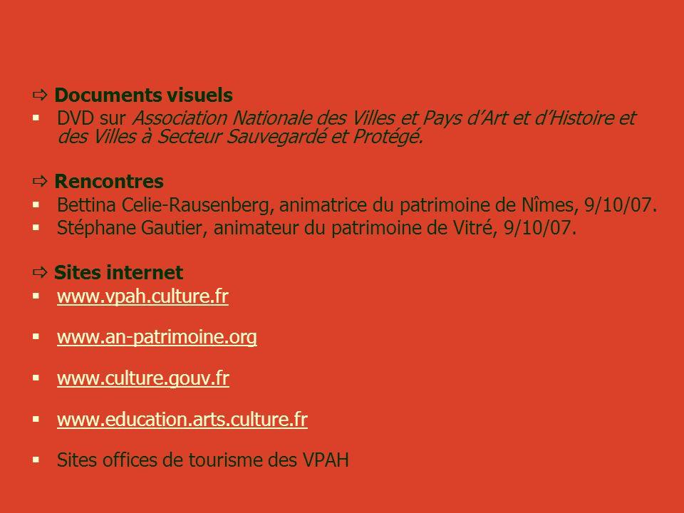 Documents visuels DVD sur Association Nationale des Villes et Pays dArt et dHistoire et des Villes à Secteur Sauvegardé et Protégé. Rencontres Bettina