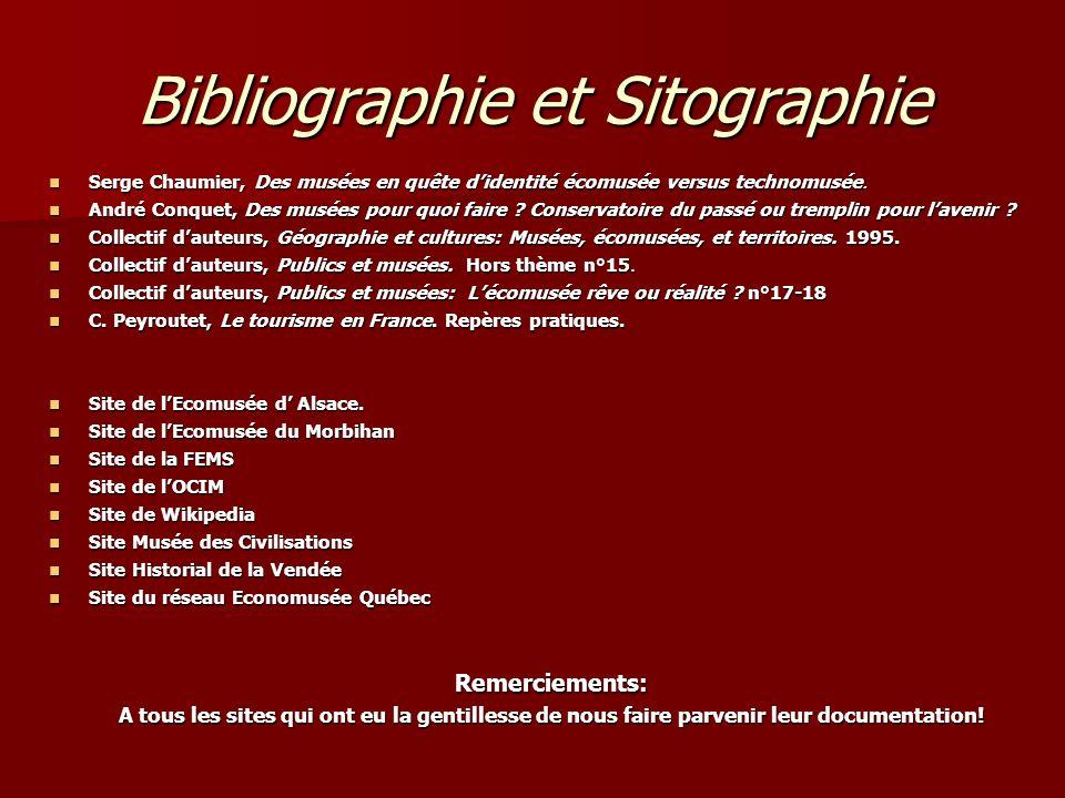 Bibliographie et Sitographie Serge Chaumier, Des musées en quête didentité écomusée versus technomusée. Serge Chaumier, Des musées en quête didentité