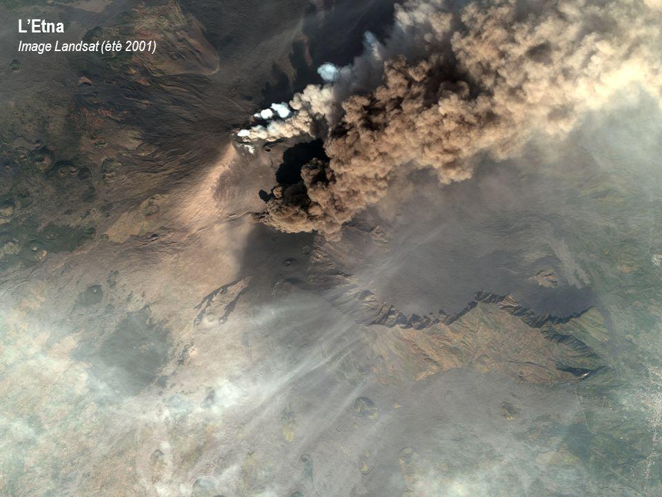 LEtna Image Landsat (été 2001)
