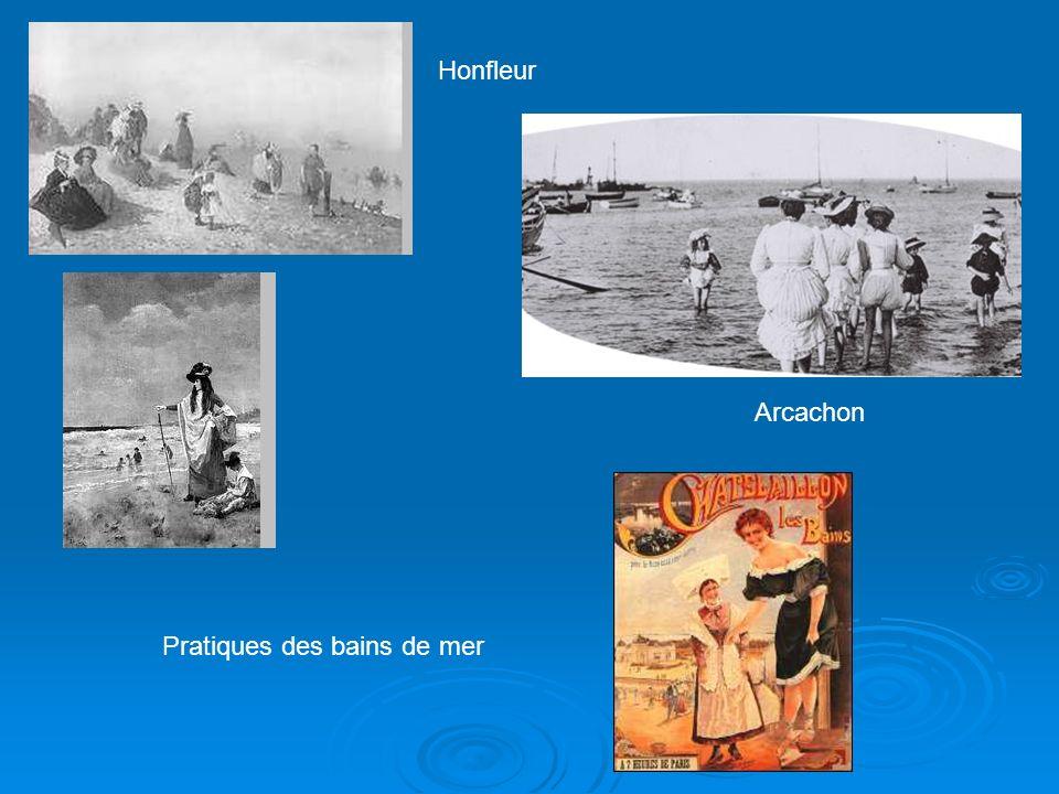 Pratiques des bains de mer Honfleur Arcachon