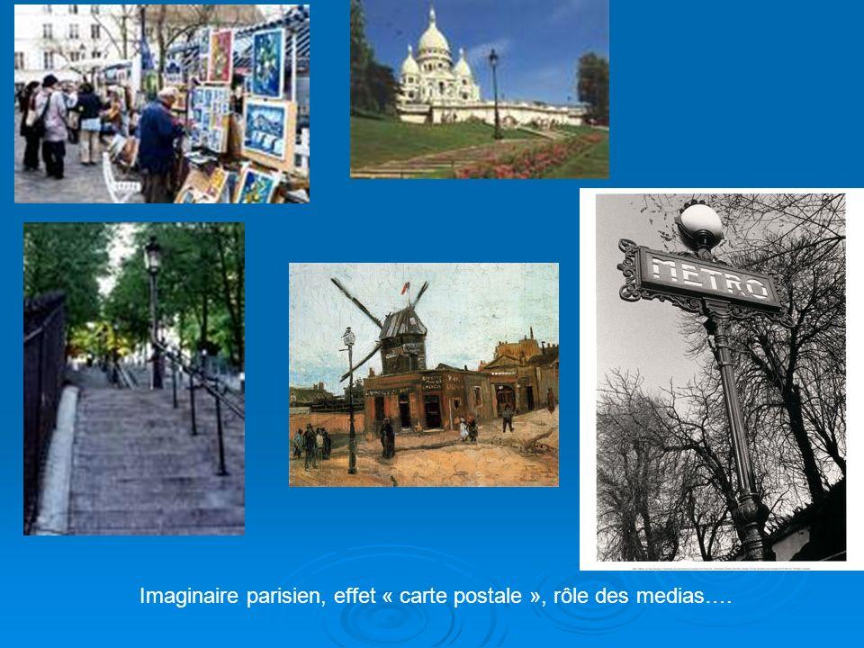 Imaginaire parisien, effet « carte postale », rôle des medias….