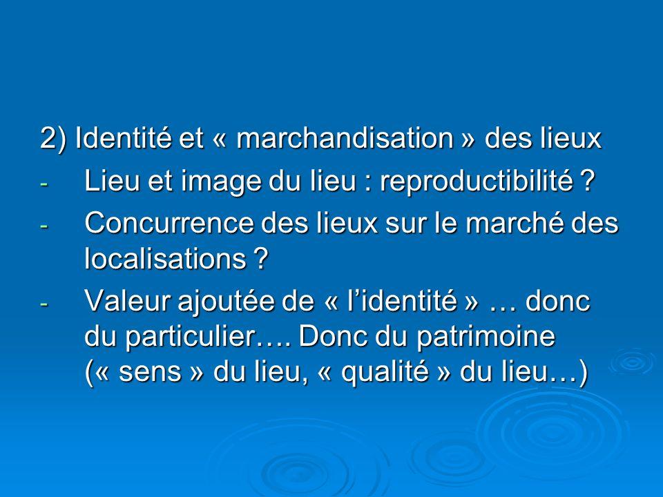 2) Identité et « marchandisation » des lieux - Lieu et image du lieu : reproductibilité .