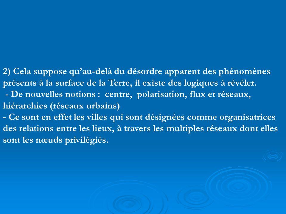 2) Cela suppose quau-delà du désordre apparent des phénomènes présents à la surface de la Terre, il existe des logiques à révéler.