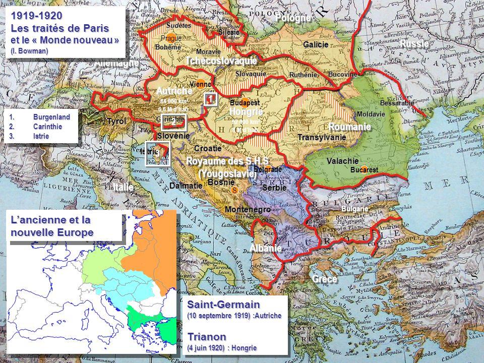 Carinthie Istrie Dalmatie Tyrol Moravie Croatie Transylvanie Bu S BulgarieBulgarie ItalieItalie AllemagneAllemagne Vienne Autriche 84 000 km 2 6,6 M d