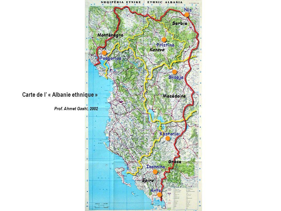 Carte du bulletin météorologique du quotidien Vecernje Novosti - 20 février 2008 Citée par A.